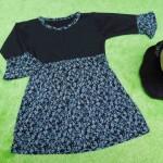 PALING MURAH Baju Muslim Gamis Aisyah Anak Bayi Perempuan 0-12bulan Plus Hijab little black flowers
