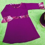 PALING MURAH Baju Muslim Gamis Aisyah Anak Bayi Perempuan 0-12bulan Plus Hijab  purple
