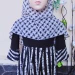 PALING MURAH Baju Muslim Gamis Aisyah Anak Bayi Perempuan 6-18bulan Plus Hijab monokrom elegan 44 Lebar Dada 28cm, Panjang baju 48cm, usia hanya estimasi, silahkan cocokkan dengan ukuran anak anda,