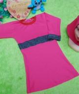 PALING MURAH Baju Muslim Gamis Aisyah Anak Bayi Perempuan 6-18bulan Plus Hijab pink 44 Lebar Dada 28cm, Panjang 52cm