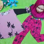 PLUS HIJAB setelan baju legging muslim anak Aisyah gamis bayi  1-2th jilbab barbie