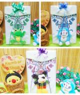 foto utama Paket kado bayi gift box newborn baju koko putih sablon PLUS PECI boneka sablon ANEKA WARNA