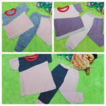 foto utama Setelan anak bayi baju harian blaster 0-12bulan aneka warna 21900 lebar dada 28cm, panjang baju 28cm, panjang celana, 45cm