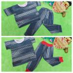 foto utama Setelan anak bayi baju harian salur gerimis 0-12bulan list random 21900 lebar dada 29cm, panjang baju 33cm, panjang celana, 44cm