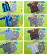 foto utama setelan baju celana bintang anak bayi 0-12bulan salur