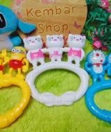 kado bayi murah mainan edukasi bayi rattle icik-icik krincingan bisa bunyi komplit Aneka Karakter