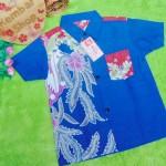 Baju batik bayi anak laki-laki kemeja batik batita hem anak cowok 2-4th baju pesta motif biru cakep