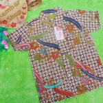 Baju batik bayi anak laki-laki kemeja batik batita hem anak cowok 2-4th baju pesta motif kawung