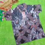 Baju batik bayi anak laki-laki kemeja batik batita hem anak cowok 2-4th baju pesta motif kombi