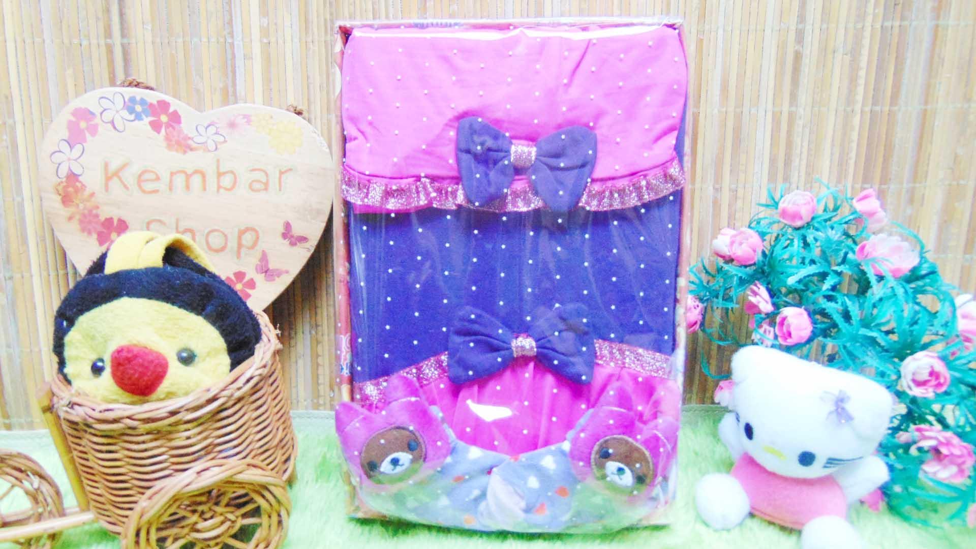 FREE KARTU UCAPAN Kado Lahiran Box Paket Kado Bayi Perempuan Cewek Baby Gift Set Gamis pita gemerlap Sock Jilbab