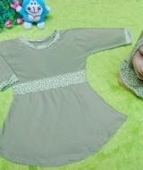 PALING MURAH Baju Muslim Gamis Aisyah Anak Bayi Perempuan 0-12bulan Plus Hijab greentea 43 Lebar Dada 29cm, Panjang baju 41cm, usia hanya estimasi, silahkan cocokkan dengan ukuran anak anda,