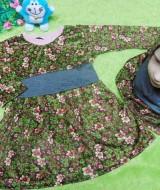 PALING MURAH Baju Muslim Gamis Aisyah Anak Bayi Perempuan 1-2th Plus Hijab garden 45 Lebar Dada 31cm, Panjang baju 48cm, usia hanya estimasi, silahkan cocokkan dengan ukuran anak anda,