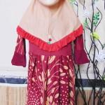 PALING MURAH Baju Muslim Gamis Aisyah Anak Bayi Perempuan 2-3th Plus Hijab oriza maroon