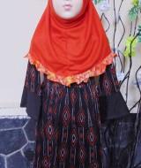 PALING MURAH Baju Muslim Gamis Aisyah Anak Bayi Perempuan 3-4th Plus Hijab etnik orange 49 Lebar Dada 31cm, Panjang baju 65cm, usia hanya estimasi, silahkan cocokkan dengan ukuran anak anda,
