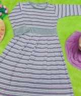 PALING MURAH Baju Muslim Gamis Aisyah Anak Bayi Perempuan 3-4th Plus Hijab salur purple grey 49 Lebar Dada 27cm, Panjang baju 72cm, usia hanya estimasi, silahkan cocokkan dengan ukuran anak anda