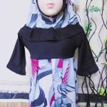 PALING MURAH Baju Muslim Gamis Aisyah Anak Bayi Perempuan 6-18bulan Plus Hijab Abstrak cantik