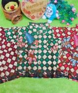baju batik bayi anak laki-laki kemeja batik batita hem anak cowok uk 0-2th baju pesta motif batik kembang ketupat