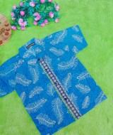 baju batik bayi anak laki-laki kemeja batik batita hem anak cowok uk 1-3th baju pesta motif ekor merak