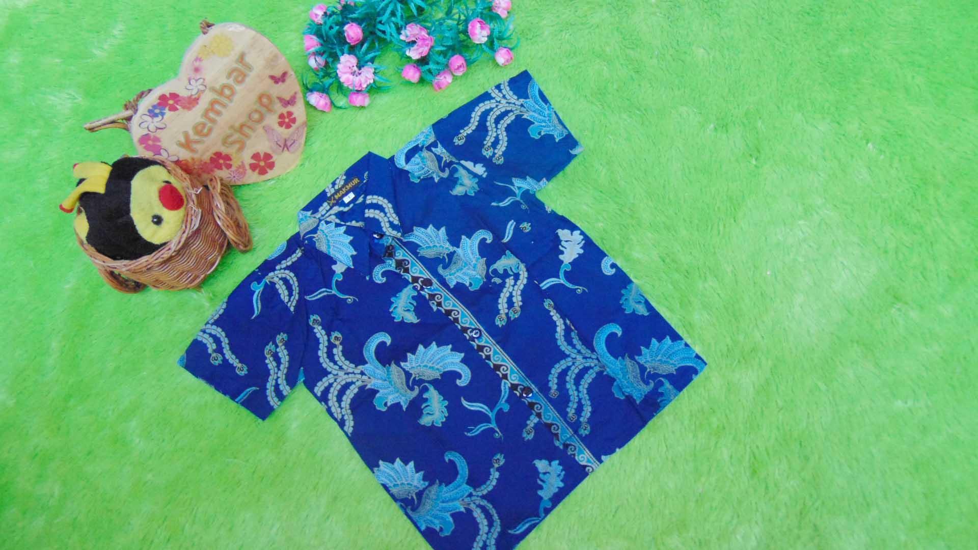 baju batik bayi anak laki-laki kemeja batik batita hem anak cowok uk 1-3th baju pesta motif sesuluran