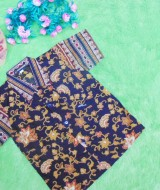 baju batik bayi anak laki-laki kemeja batik batita hem anak cowok uk 1-3th baju pesta motif sulur ireng