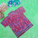 baju batik bayi anak laki-laki kemeja batik batita hem anak cowok uk 1-3th baju pesta motif sulur tumpal abang