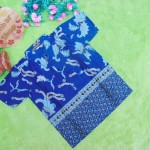 baju batik bayi anak laki-laki kemeja batik batita hem anak cowok uk 1-3th baju pesta motif sulur tumpal navy