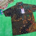 baju batik bayi anak laki-laki kemeja batik batita hem anak cowok uk 1-3th baju pesta motif truntum kombi