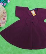 dress baju pesta anak bayi perempuan cewek newborn 0-3bulan pita pastel maroon