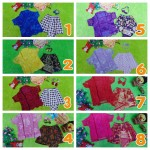 Setelan Baju Pesta Batik Kebaya Kutu Baru Brokat Brocade Elegan Bayi 0-15bulan Plus Headband Aneka Warna