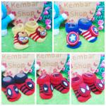 Kaos Kaki Bayi 0-6bulan Baby Sock Boneka 3D Motif Super Hero