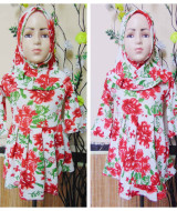 foto utama PALING MURAH Baju Muslim Gamis Aisyah Anak Bayi Perempuan 6-18bulan Plus Hijab Blossom Rose 44 Lebar Dada 27cm, Panjang 45cm