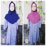 PALING MURAH Baju Muslim Gamis Azizah Anak Perempuan 4-5th Plus Hijab Little Flower