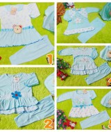 foto utama PLUS HIJAB setelan baju muslim anak gamis bayi 0-12bulan biru Aneka Motif