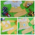 PLUS HIJAB setelan baju muslim anak gamis bayi 0-12bulan kuning Aneka Warna