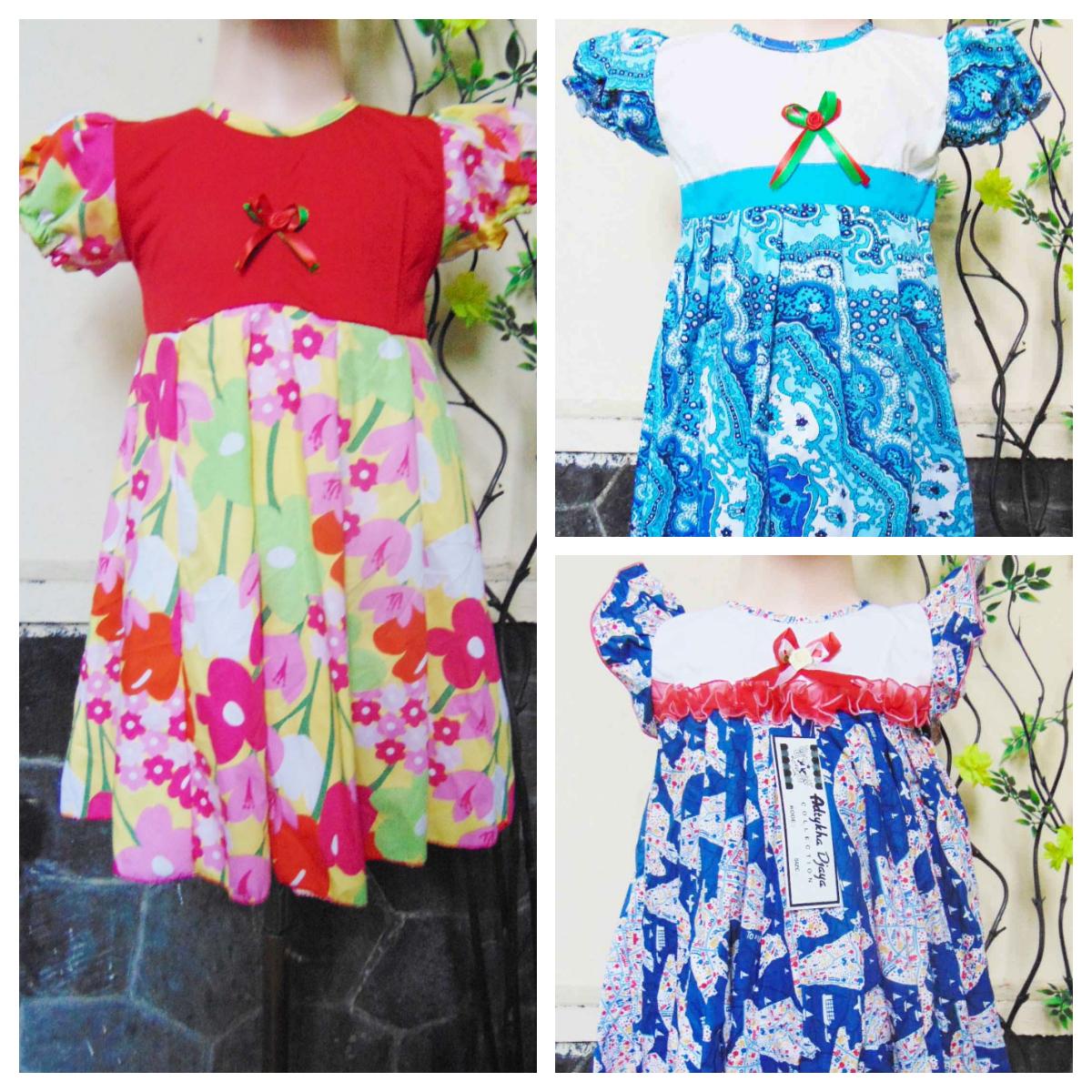 foto utama baju pesta dress baju bayi perempuan 2-3th Aneka Motif