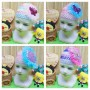 utama BUY 1 GET 1 FREE topi turban jaring anak bayi cewek perempuan 0-12bulan blink-blink cantik random (1)