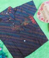 Baju batik bayi anak laki-laki kemeja batik batita hem anak cowok 3-4th baju pesta motif diagonal