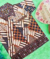 baju batik bayi anak laki-laki kemeja batik batita hem anak cowok uk 1-3th baju pesta motif anyaman bambu