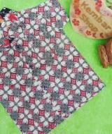 baju batik bayi anak laki-laki kemeja batik batita hem anak cowok uk 1-3th baju pesta motif kawung merah
