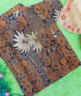 baju batik bayi anak laki-laki kemeja batik batita hem anak cowok uk 1-3th baju pesta motif sulur