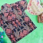 baju batik bayi anak laki-laki kemeja batik batita hem anak cowok uk 1-3th baju pesta motif sulur kembang abang