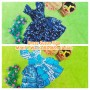baju pesta dress batik kerut dada susun tiga anak bayi perempuan 0-12bulan motif RANDOM ACAK (1)