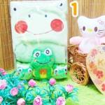 FREE KARTU UCAPAN kado bayi baby gift set selimut topi bayi karakter plus sepatu boneka
