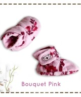 kado sepatu bayi prewalker baby newborn 0-6bulan booties cuddleme motif Bouquet Pink