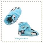 kado sepatu bayi prewalker baby newborn 0-6bulan booties cuddleme motif Penguin Blue