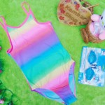 FREE KACAMATA RENANG bikini baju renang anak branded PLACE rainbow 5-6tahun