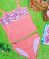 FREE KACAMATA RENANG bikini baju renang anak branded SO orange blink 5-6tahun 59 muat kira-kira untuk anak 5-6 tahun,lebar dada 30cm(sblm melar),lebar pinggang 29cm (sblm melar),