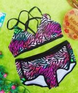 FREE KACAMATA RENANG bikini baju renang anak branded XHILARATION leopard pelangi uk XL 11-14tahun 79 muat kira-kira untuk anak 11-14 tahun lebar pinggang 36cm(sblm melar),lebar dada 35cm (sblm melar)