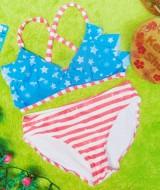 FREE KACAMATA RENANG bikini branded CIRCO stars stripe uk L 6-7tahun 64 muat kira-kira untuk anak 6-7 tahun lebar pinggang 32cm(sblm melar),lebar dada 32cm (sblm melar)