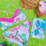 FREE KACAMATA RENANG bikini baju renang anak branded LILLY PULITZER flowery uk L 8-10tahun
